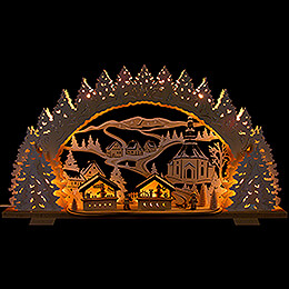 Candle Arch  -  Christmas Market in Seiffen  -  72x41cm / 28.3x16.1 inch