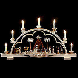 Candle Arch  -  Christmas Story  -  64cm / 56 inch  -  120 V Electr. (US - Standard)