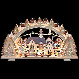 Candle Arch  -  Christmas Time Natural Wood Exclusive  -  72x41x7cm / 28x16x3 inch