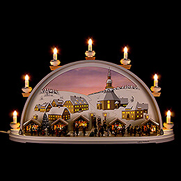 Candle Arch  -  Christmas in Seiffen  -  Limited by Klaus Kolbe  -  70x40x17,5cm / 27.5x15.5x7 inch