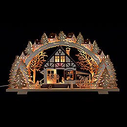 Candle Arch  -  'Forest Hut'  -  72x41x6,5cm / 28.3x16.1x2.3 inch