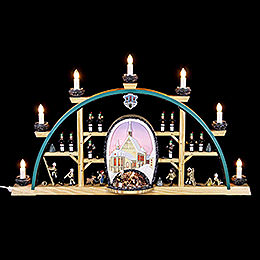 Candle Arch  -  Freiberg Cathedral  -  70x40cm / 27.5x15.7 inch