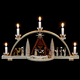 Candle Arch  -  Nativity Scene  -  47cm / 19 inch