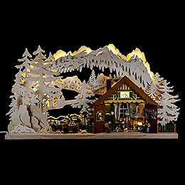 Candle Arch  -  Ore Mountain Cabin  -  72x43cm / 28x17 inch