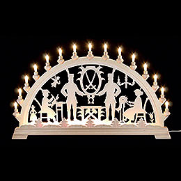 Candle Arch  -  Ore Mountains Motive  -  84x49cm / 33x19 inch