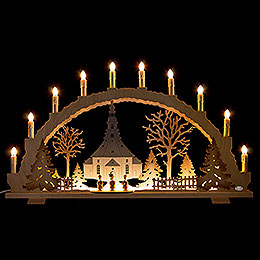Candle Arch  -  Seiffen Church  -  70x42cm / 27.6x16.5 inch