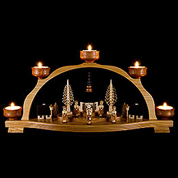 Candle Arch  -  Seiffen Village and Carolers  -  46,5x23cm / 18x9 inch