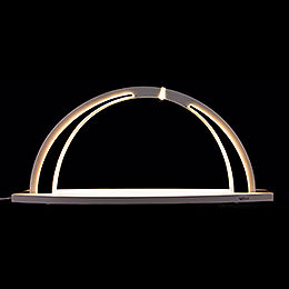 Candle Arch  -  modern wood  -  WHITE LINE  -  without Figurines  -  57x26cm / 22.4x10.2 inch