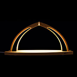 Candle Arch  -  modern wood  -  without Figurines  -  41x20cm / 16.1x7.9 inch