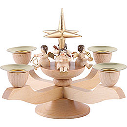 Candle Holder  -  Angels  -  Gold  -  12cm / 5 inch