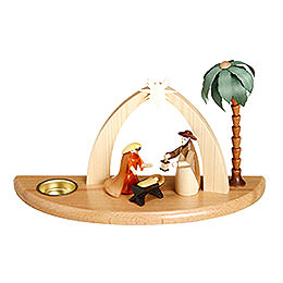Candle Holder  -  Nativity Scene  -  17cm / 7 inch