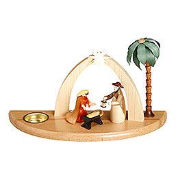 Candle Holder  -  Nativity Scene  -  17cm / 7 inch