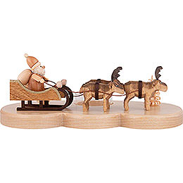 Candle Holder  -  Ruprecht and his reindeers  -  Natural  -  9cm / 3.5 inch