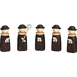 Carolers  -  5 Figurines  -  7cm / 3 inch