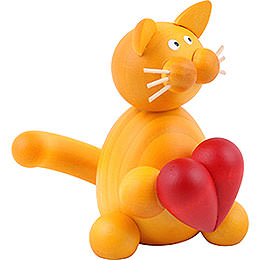 Cat Emmi with Heart  -  8cm / 3.1 inch