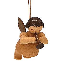 Christbaumschmuck Engel mit Flöte  -  natur  -  schwebend  -  5,5cm