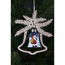 Christbaumschmuck Handbemalte Glasglocke Weihnachtsmann, 3er Set  -  9x8cm