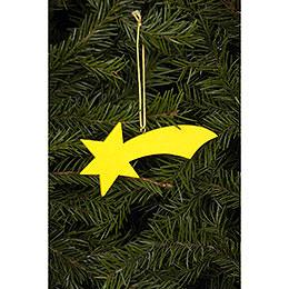 Christbaumschmuck Komet gelb  -  9,2 / 3,6cm