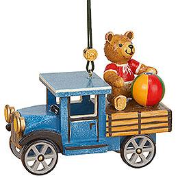 Christbaumschmuck LKW mit Teddy  -  5cm