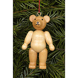 Christbaumschmuck Teddybär natur  -  4,5 / 6,2cm