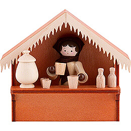 Christmas Market Stall Glogg with Thiel Figurine  -  8cm / 3.1 inch