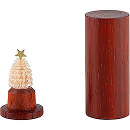 Der Weihnachtsbaum für die Hosentasche  -  Padouk  -  4,5cm