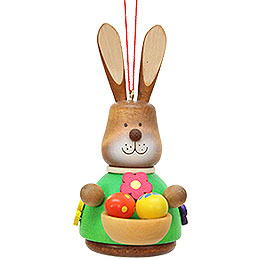 Easter Ornament  -  Teeter Bunny with Egg - Basket  -  9,8cm / 3.9 inch