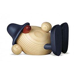 Egghead Oskar Lying Down, Blue  -  11cm / 4.3 inch