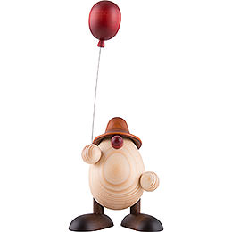 Egghead Otto with Balloon, Brown  -  11cm / 4.3 inch