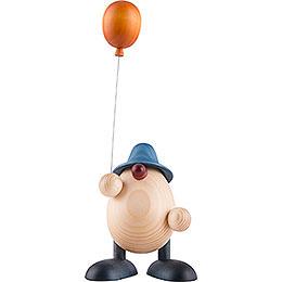 Eierkopf Otto mit Luftballon, blau  -  11cm