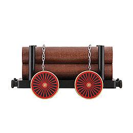 Eisenbahnwagen mit Holz  -  23x13x10cm