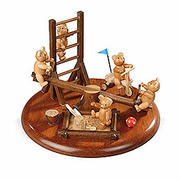Electronic Music Box  -  Bear Playground  -  15cm / 5.9 inch