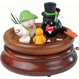 Electronic Music Box  -  'Hi Mum!, Hi Pa!' Bird Wedding  -  Rolf Zuckowski Edition  -  19cm / 7.5 inch
