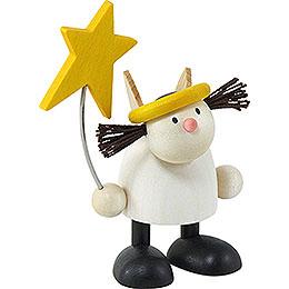 Engel Lotte stehend mit Stern  -  7cm
