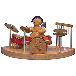 Engel am Schlagzeug passend zu Wolkenstecksystem  -  natur  -  stehend  -  6cm