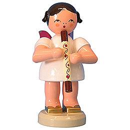 Engel mit Didgeridoo  -  Rote Flügel  -  stehend  -  9,5cm