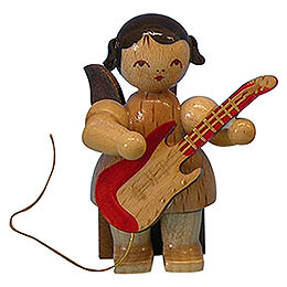 Engel mit E - Gitarre  -  natur  -  sitzend  -  5cm