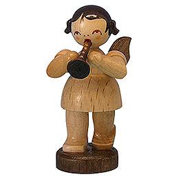 Engel mit Flöte  -  natur  -  stehend  -  6cm