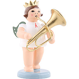 Engel mit Krone und Tuba  -  6,5cm