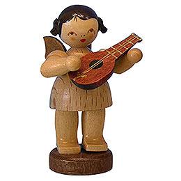 Engel mit Mandoline  -  natur  -  stehend  -  6cm
