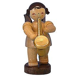 Engel mit Saxophon  -  natur  -  stehend  -  6cm