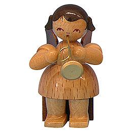 Engel mit Trompete  -  natur  -  sitzend  -  5cm