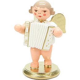 Engel weiß/gold mit Ziehharmonika  -  6,0cm