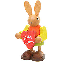 Female Bunny with Heart  -  8,5cm / 3.3 inch