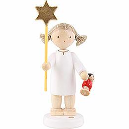Flachshaarengel mit Stern und Puppe 2015  -  5cm