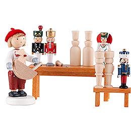 Flachshaarkinder Spielzeugmacher  -  5cm