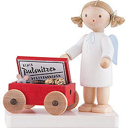 Flax Haired Angel with Pulsnitzer Gingerbread  -  5cm / 2 inch