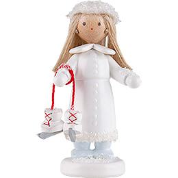 """Flax Haired Children """"Ice Princess""""  -  5cm / 2 inch"""