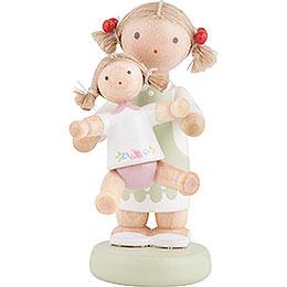 "Flax Haired Children ""Paula and Pauline""  -  5cm / 2 inch"