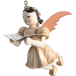 Floating Angel Singer, Natural  -  6,6cm / 2.6 inch